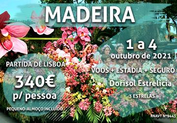 Aqui está mais um pacote imperdível para a Madeira por 340€