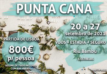 Temos 7 noites em Punta Cana por 800€ num hotel tudo incluído