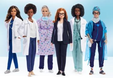 As novas Barbies são feitas à imagem das heroínas que fizeram frente à pandemia