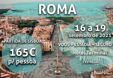 Esta escapadinha romântica para Roma só custa 165€ por pessoa