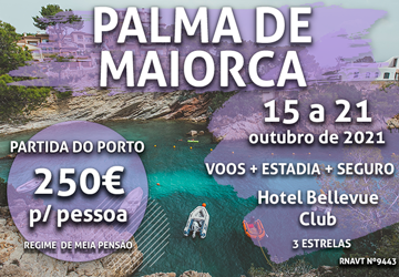 Veja esta conta: 6 noites em Palma de Maiorca + voo + hotel = 250€