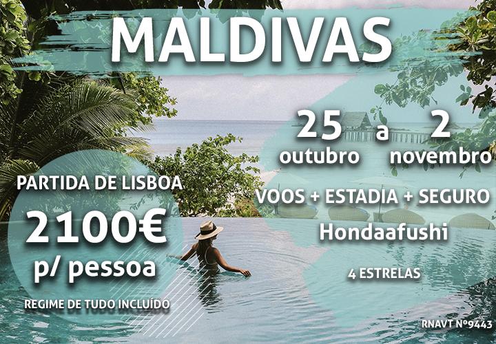A viagem de uma vida: 7 noites nas Maldivas por 2100€ num hotel com tudo incluído