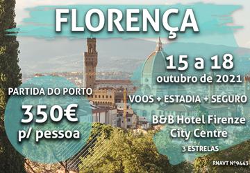 Este fim de semana romântico em Florença só custa 350€ por pessoa
