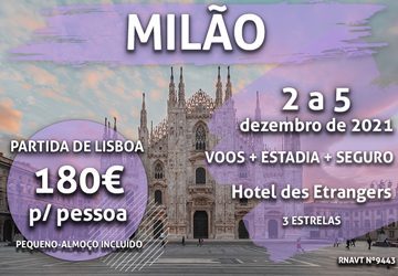 Não perca: uma incrível escapadinha de fim de semana para Milão por 180€