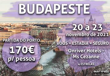 Temos mais uma escapadinha para Budapeste: 170€ para ficar num hotel-navio no rio Danúbio