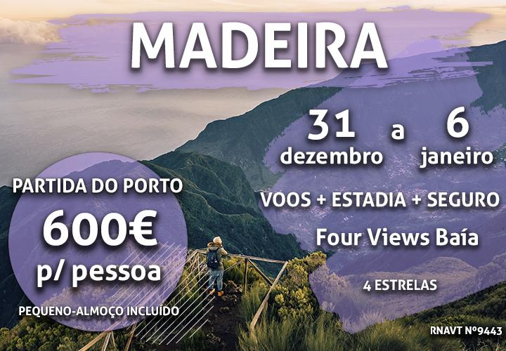 Este programa especial leva-o à Madeira para uma Passagem de Ano incrível por 600€