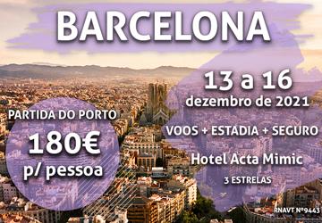 Temos mais uma viagem de sonho para Barcelona por apenas 180€ (com voo e hotel)