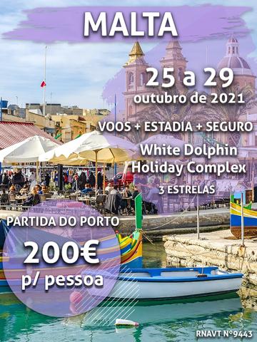 A conta perfeita: 4 noites em Malta por 200€ com estadia na baía de São Paulo