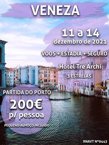 Temos mais uma maravilhosa escapadinha de inverno para Veneza por apenas 200€