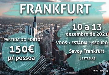 Temos mais uma viagem de sonho para Frankfurt por 150€ num hotel no centro da cidade