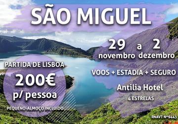 Lisboa-São Miguel por 200€ num incrível hotel de 4 estrelas