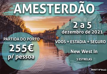 Sim, está a ler bem: esta viagem para Amesterdão só custa 255€