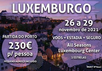 Porto-Luxemburgo por apenas 230€ num hotel no centro da cidade