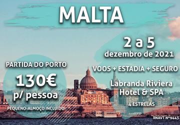Esta maravilhosa viagem para Malta só custa 130€ (com voo e hotel incluídos)