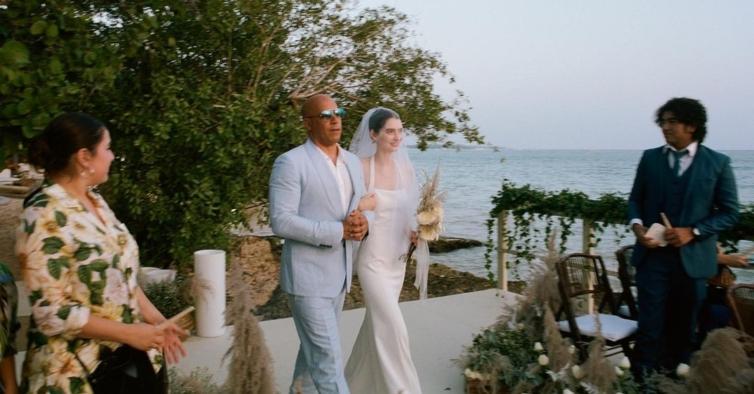 O padrinho Vin Diesel levou a filha de Paul Walker ao altar