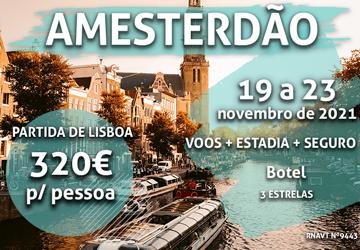 Prepare-se para uns dias incríveis em Amesterdão por 320€ (com voo e hotel)